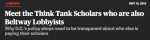 Report  Dozens of Lobbyists Work As Think Tank Scholars   New Republic (3)